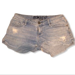 🔥3/$20 Fox women's blue jean shorts size 1
